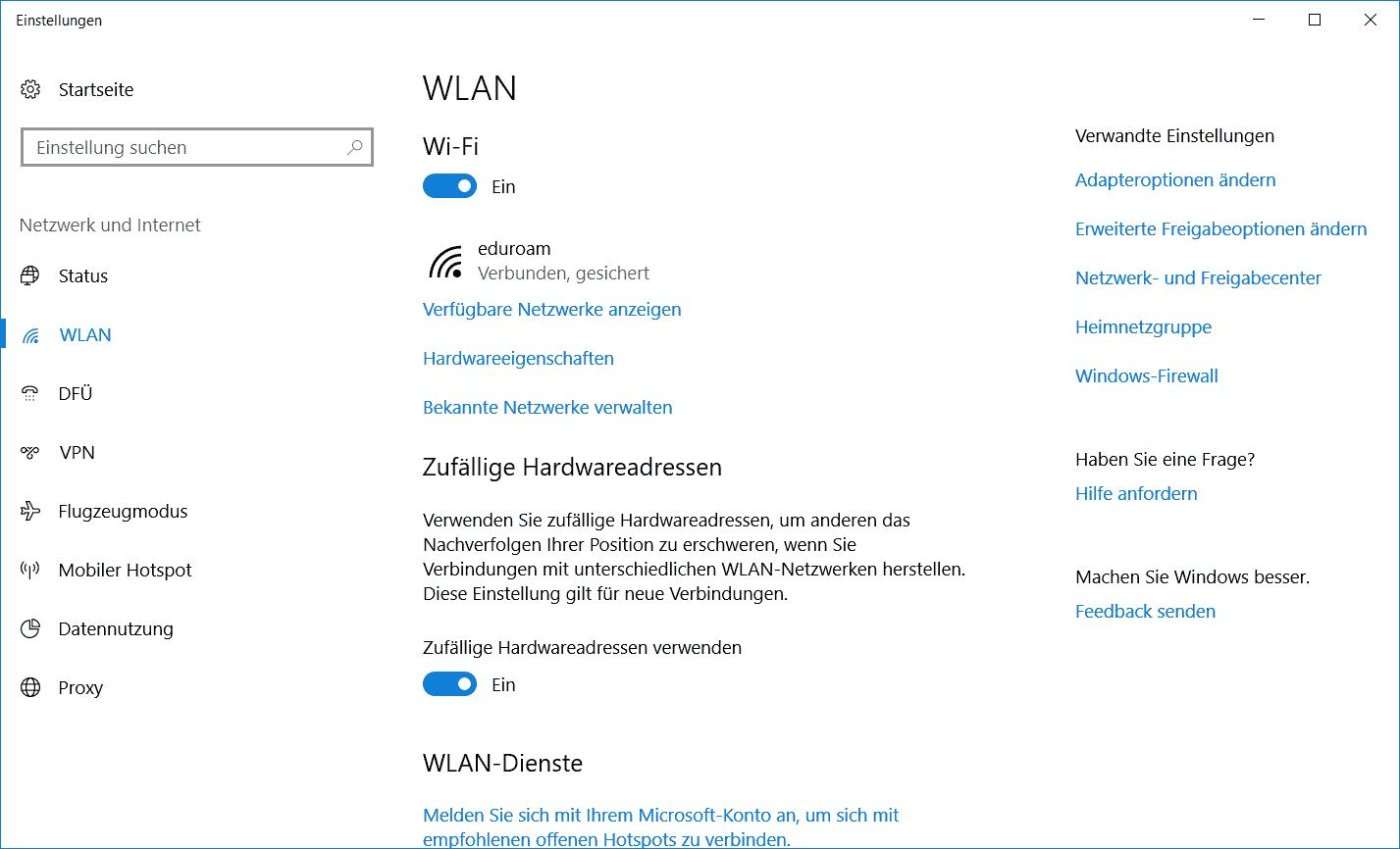 WLAN-Passwort anzeigen